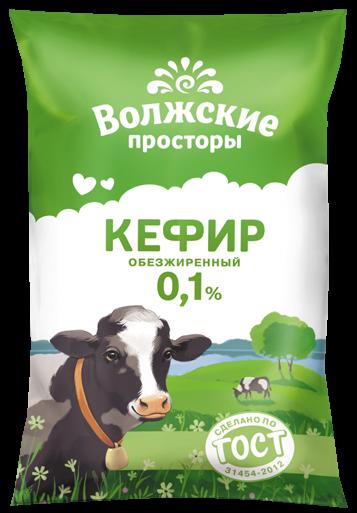 Кефир 0,1%, 900 г