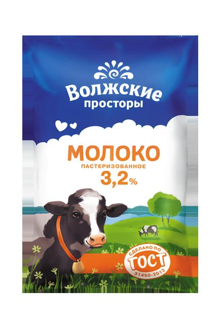 Молоко пастеризованное 3,2%, 900 г