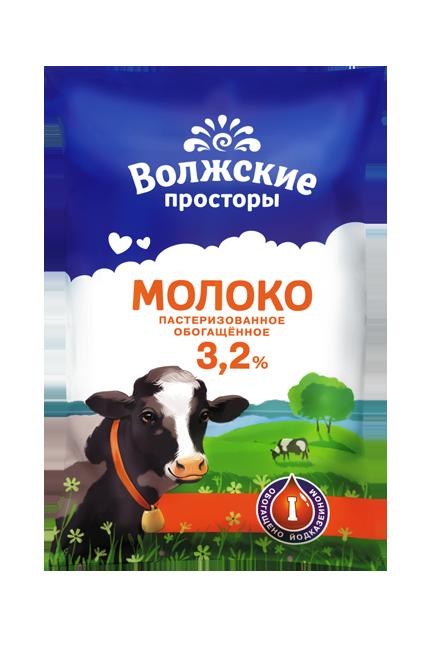 Молоко пастеризованное 3,2%, обогащенное йодказеином, 1000 г