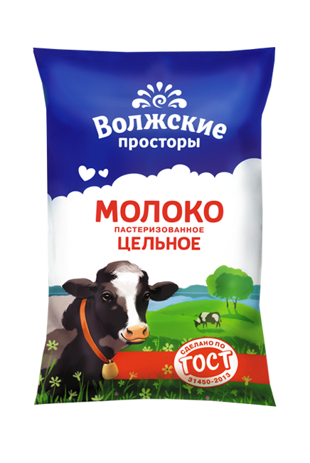 Молоко пастеризованное 3,5%, 900 г