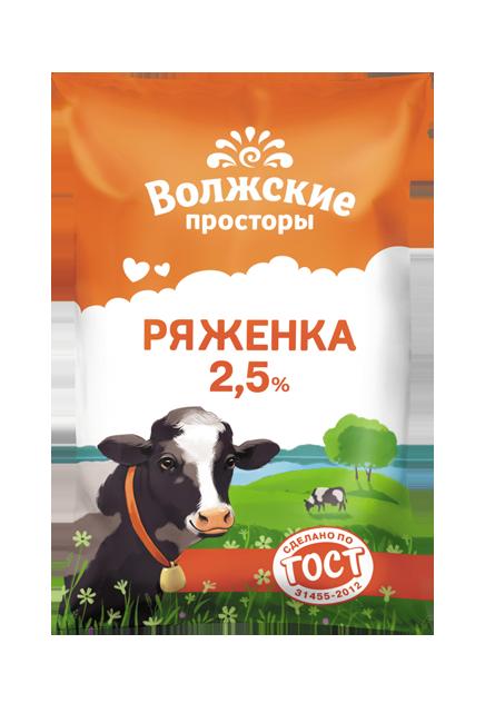 Ряженка 2,5%, 900 г