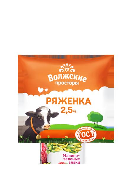 Ряженка 2,5%, 500 г